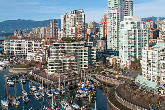 View from Granville Street Bridge, Vancouver, BC